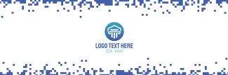 Retro Digital Pixel Twitter header (cover)