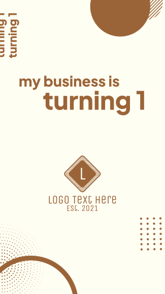 My Business Is Turning 1 Facebook story