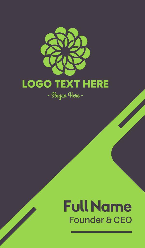 Green Flower Pattern Business Card