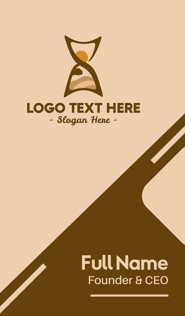 Desert Hourglass Business Card
