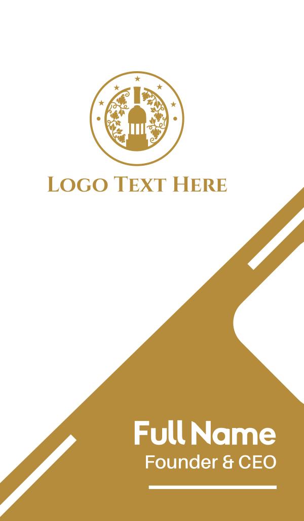 Organic Wine Business Card