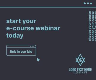 E-Course Webinar Facebook post