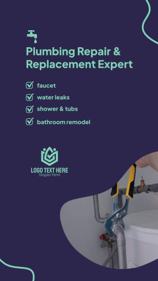 Plumbing Repair Service Facebook story