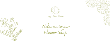 Minimalist Flower Shop Facebook cover
