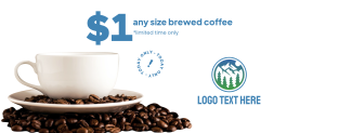 $1 Brewed Coffee Cup Facebook cover