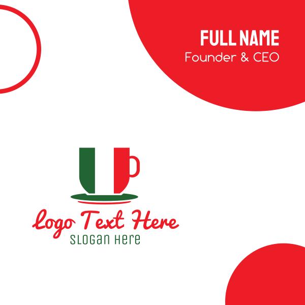 Italian Coffee Cafe Business Card