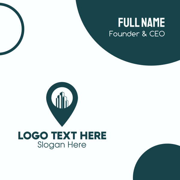 Building Location Pin Business Card
