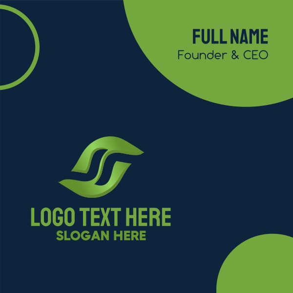 Floating Leaf Letter S Business Card