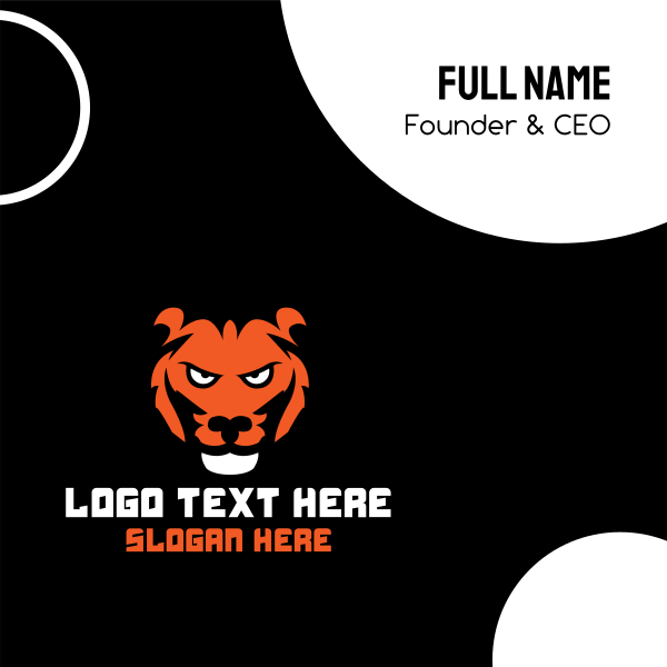 Wild Tiger Business Card