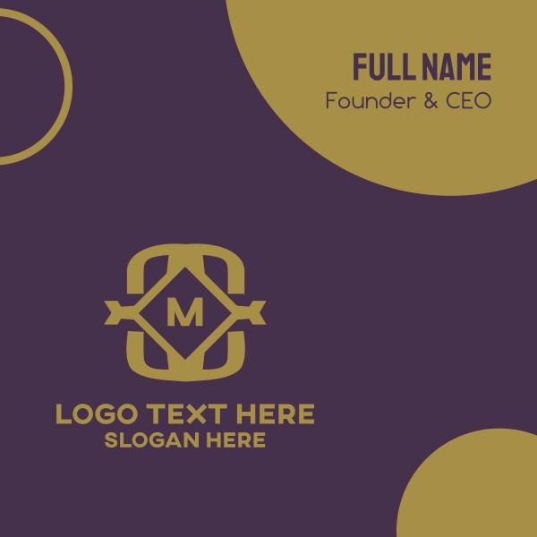Golden Luxurious Lettermark Business Card