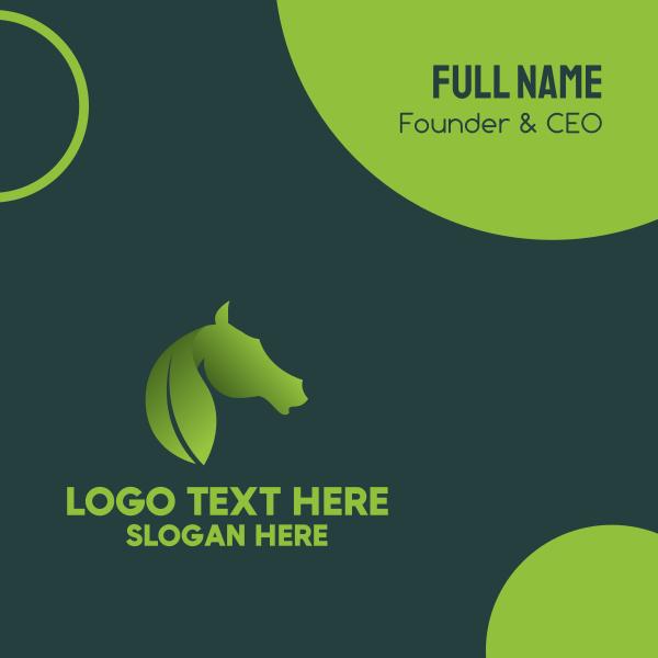 Leaf & Horse Business Card