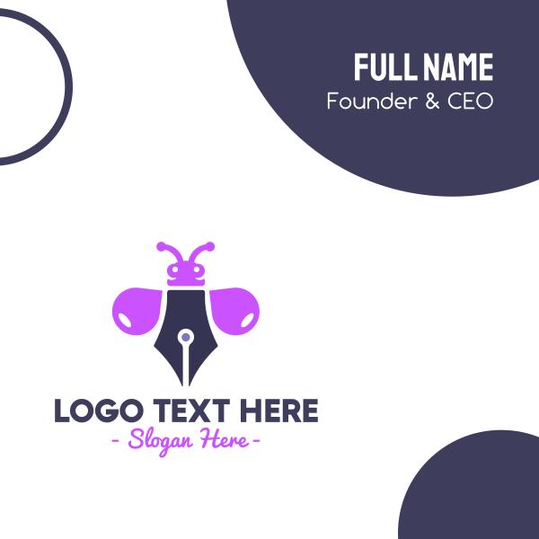Purple Ink Bug Business Card
