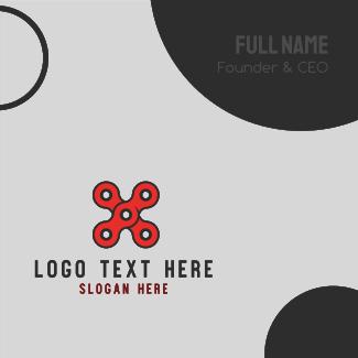 X Circles Business Card