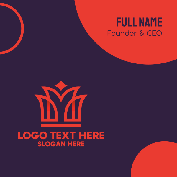 King Red Crown Business Card
