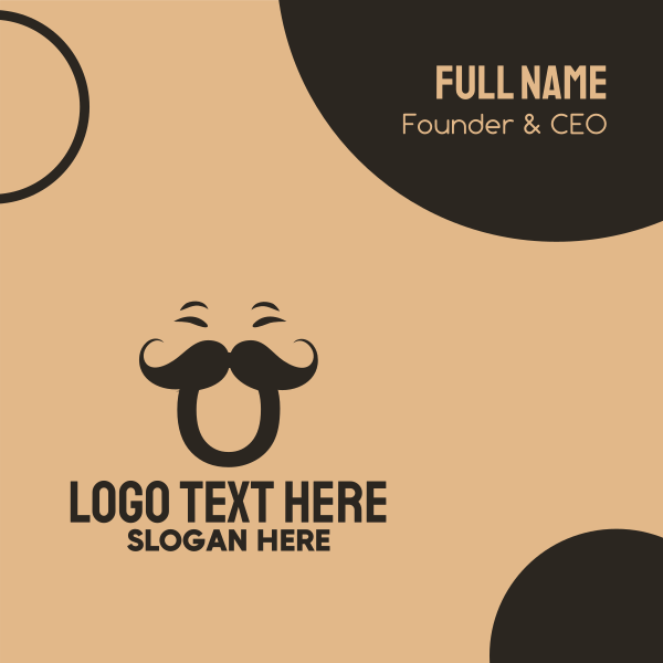 Hipster Letter O Business Card