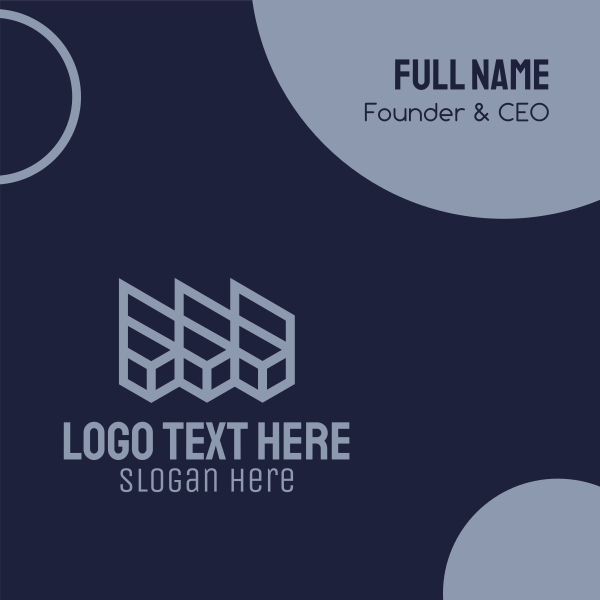 Purple Geometric Boxes Business Card