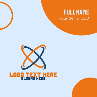 Science Atom Business Company Business Card