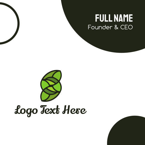 Green Letter S Business Card