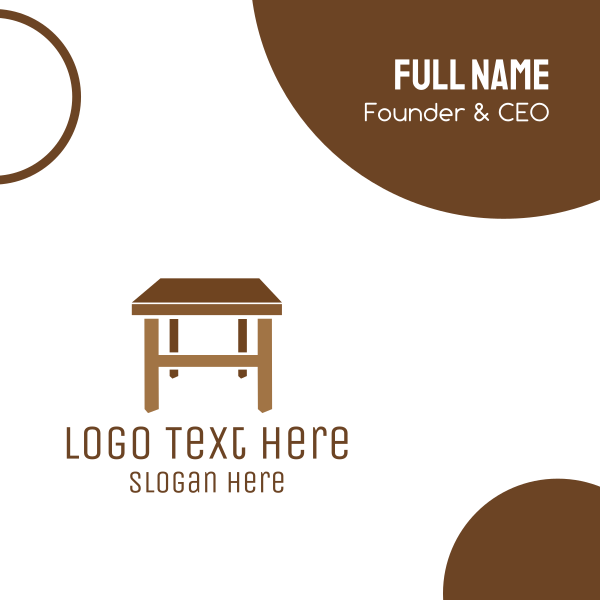 Furniture Table Business Card