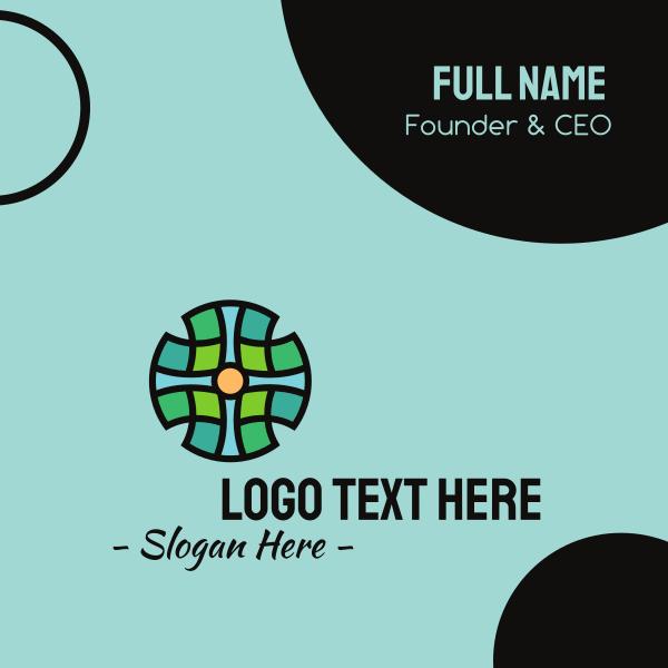 Cross Mosaic Pattern Business Card