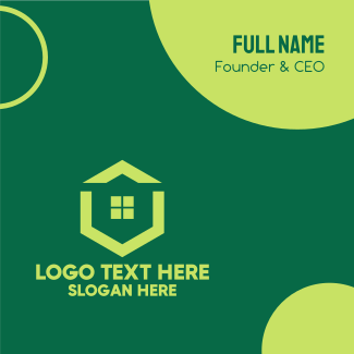 Green Real Estate Housing Business Card