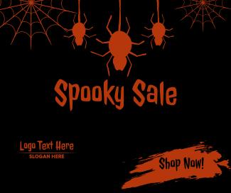 Spider Spooky Sale Facebook post