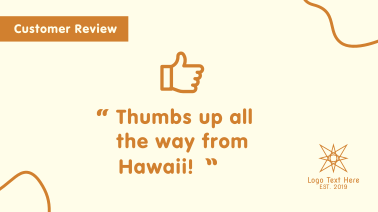 Thumbs Up Review Facebook event cover
