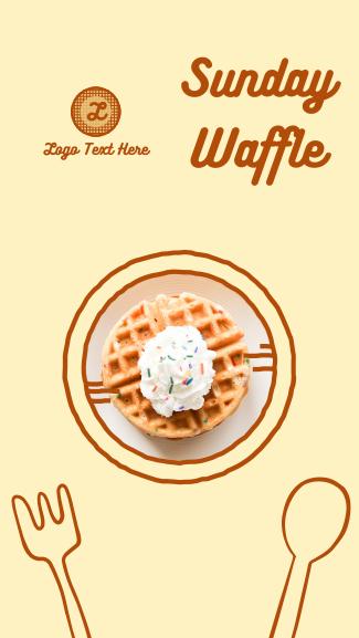 Yummy Waffle Plate Facebook story