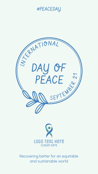 Day Of Peace Badge Facebook story
