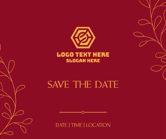 Save the Date Leaves Facebook post