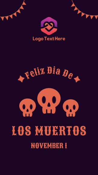 Dias De Los Muertos Greeting Facebook story