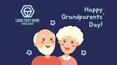 Grandparents Day Illustration Greeting Facebook event cover