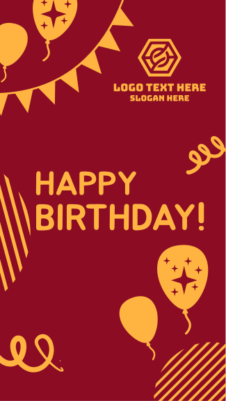Quirky Happy Birthday  Facebook story