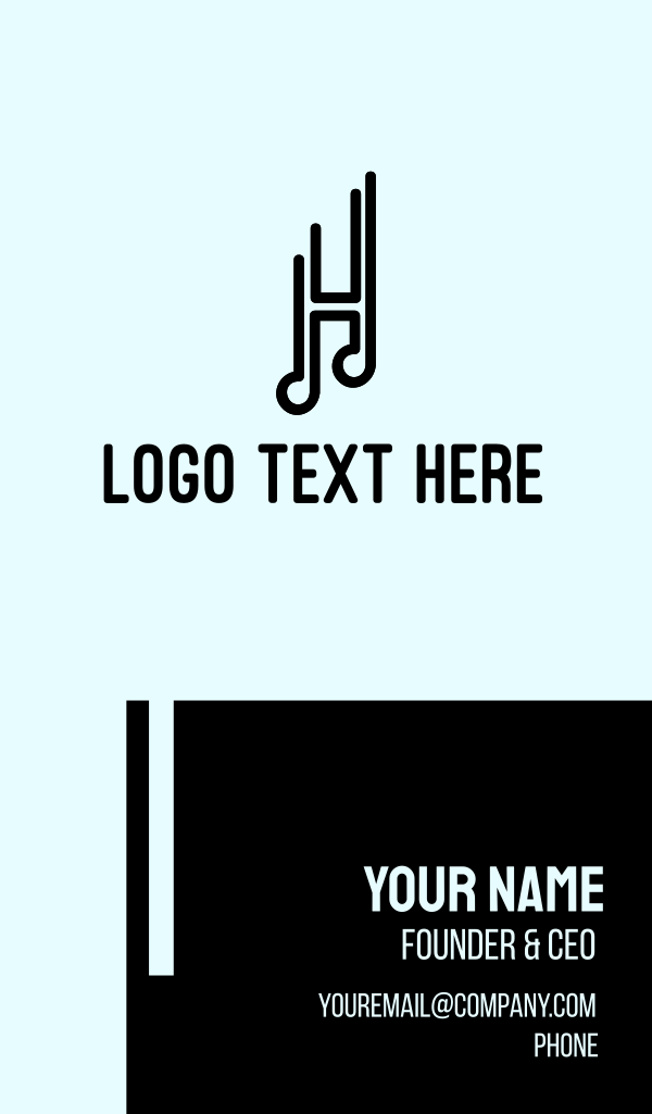 Musical Letter H Business Card