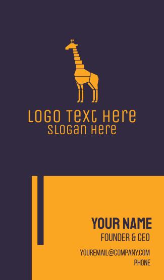Colorful Giraffe Business Card
