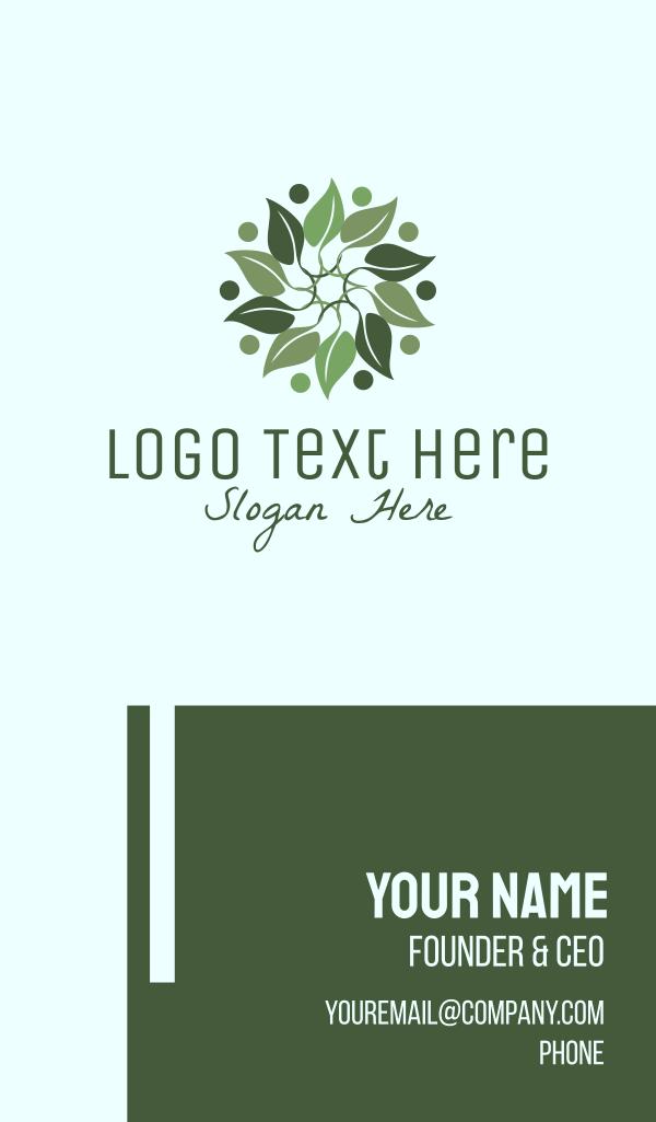 Leaf Wreath Business Card