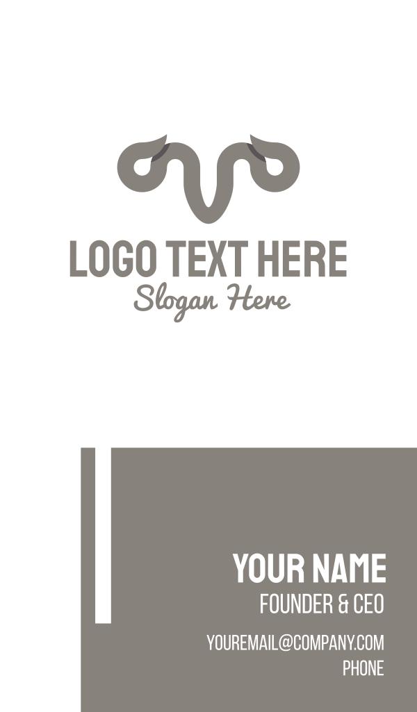 Grey Horns Business Card