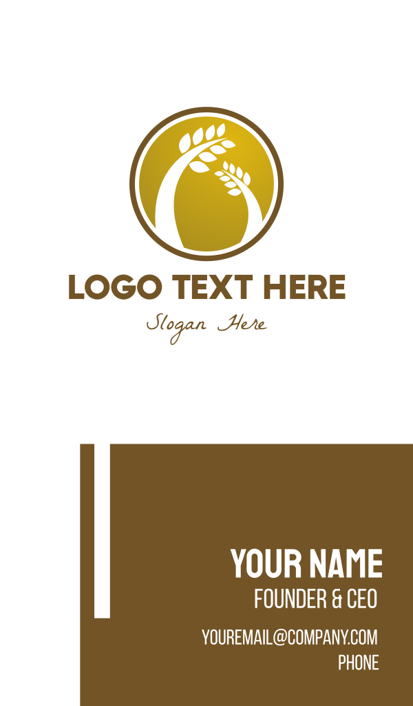Wheat Badge Business Card