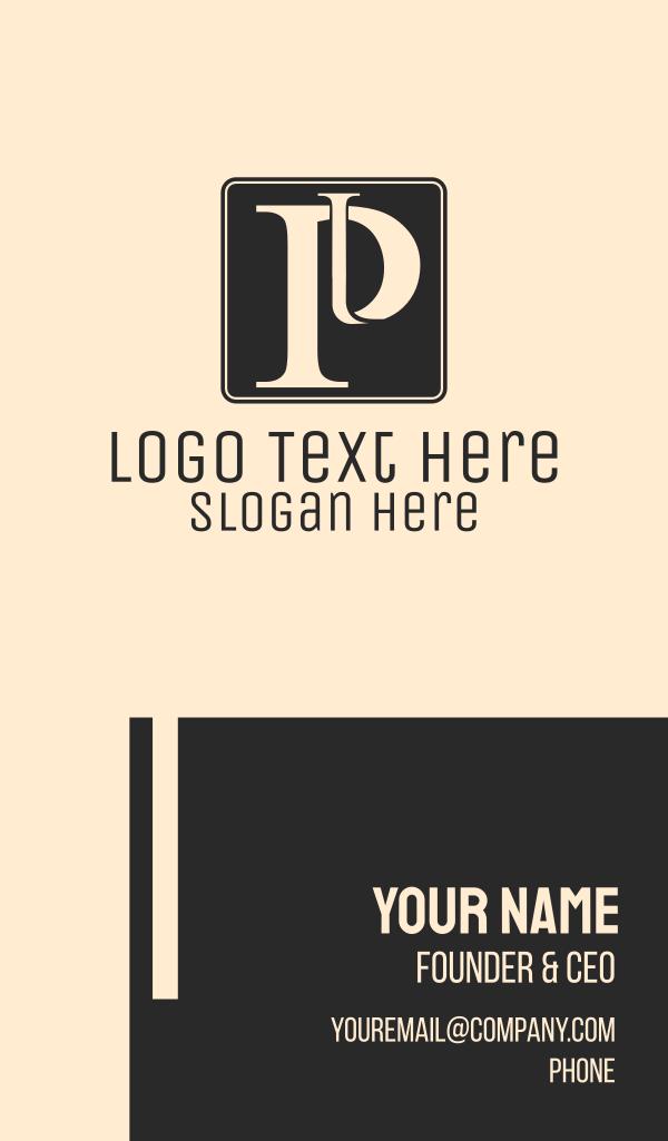 Serif Letter P Business Card