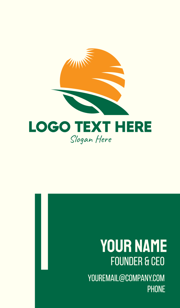 Agricultural Letter Q Business Card
