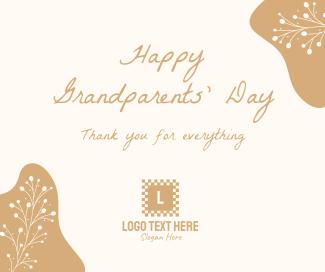 Floral Grandparents Greeting Facebook post