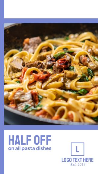Delicious Pasta Sale Facebook story