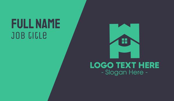 depot - Modern Housing Letter H Business card horizontal design