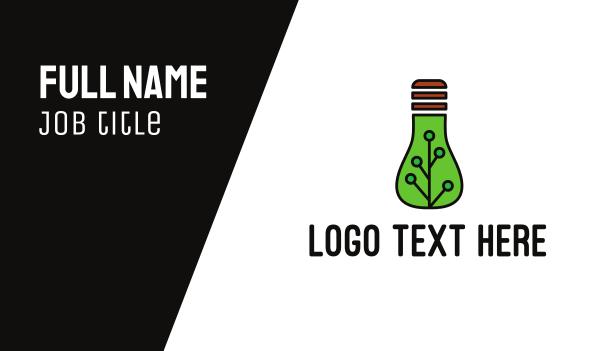 illumination - Green Eco Bulb Business card horizontal design
