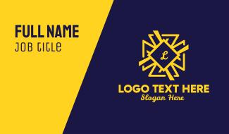 Decorative Star Lettermark Business Card
