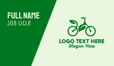 Sustainable Bicycle Business Card