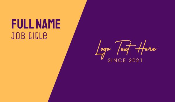 gold and purple - Golden Premium Text Business card horizontal design