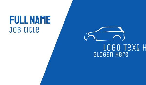 suv - White Car Dealer  Business card horizontal design