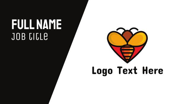 tiny - Bee Love Business card horizontal design