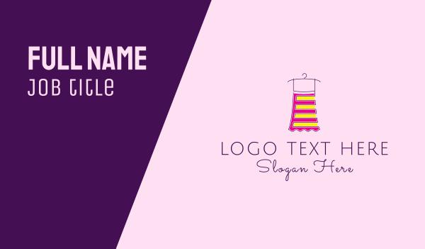 kid apparel - Fashion Dressmaker Business card horizontal design